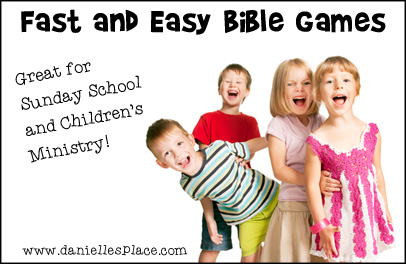 Fast and Easy Bible Games Free Printable Book from www.daniellesplace.com