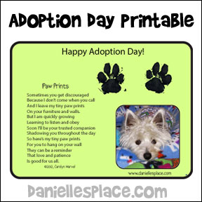 Adoption Day Printout