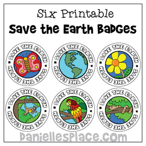 Save the Earth Badges for Earth Day