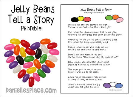 Jelly Beans Tell a Story - free Easter printable