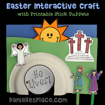 Resurrection Paper Plate Crafts and Stick Puppets  sc 1 st  Printable Craft Patterns & Paper Plate Crafts | Download Categories | Printable Craft Patterns