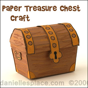 photograph regarding Printable Treasure Chest named Paper Treasure Box Craft - Printable Craft Habits
