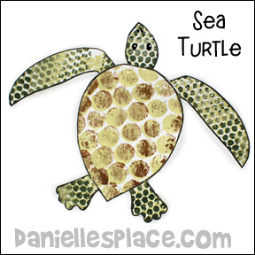 Bubble Wrap Sea Turtle Pattern