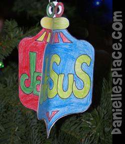 3D Paper Christmas Ornaments Craft