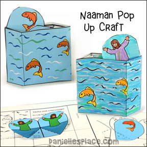 Naaman Popup Craft for Children's Ministry