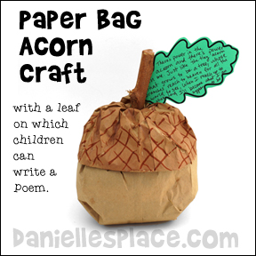 Oak Leaf Pattern for Writing Activity