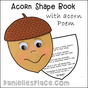 Acorn Shape Book for Acorn-themed Activities