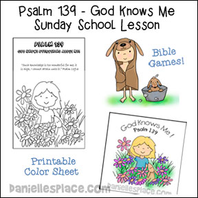 Psalm 139 - God Knows Me Sunday School Lesson