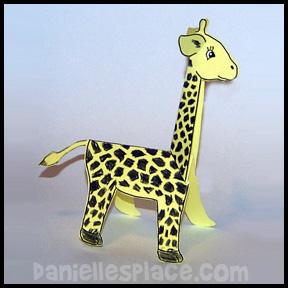 Giraffe Paper Craft