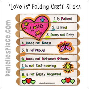 Love is . . . Folding Craft Stick Craft