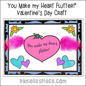 """You Make my Heart Flutter!"" Valentine's Day Card Craft"