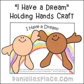"""I Have a Dream"" Holding Hands Craft"