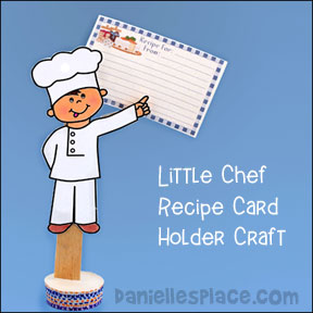 Little Chef Recipe Card Holder Craft