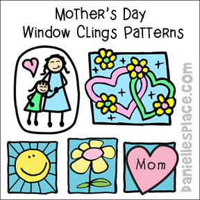 Mother's Day Window Clings Pattern