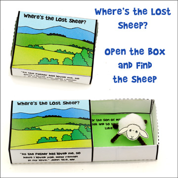 Where's the Lost Sheep Match Box Craft