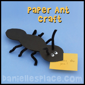 Ant Paper Craft and Learning Activity