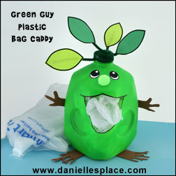 Green Guy Plastic Grocery Bag Caddy