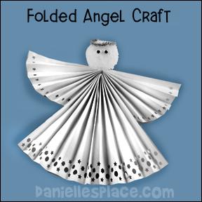 fan folded angel craft printable craft patterns