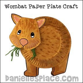 Wombat Paper Plate Craft for Kids  sc 1 st  Printable Craft Patterns & Wombat Paper Plate Craft for Kids | Printable Craft Patterns