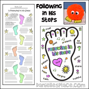 Following in His Steps Bible Lesson for Children