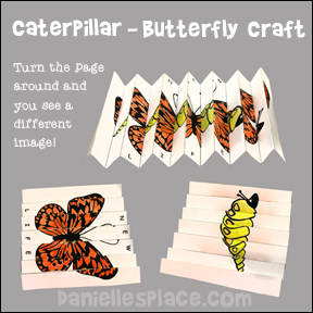 Caterpillar Changing to Butterfly Craft
