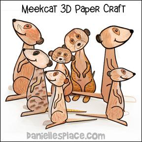 Meerkat 3D Paper Craft