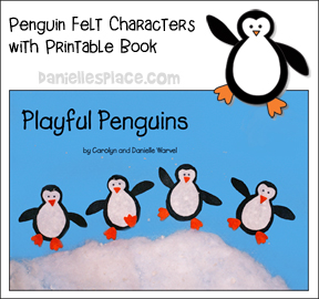 Penguin book and felt characters patterns