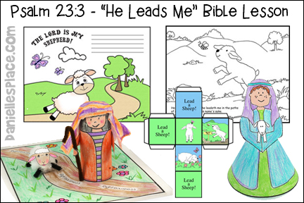 This is an image of Psalm 23 Printable with children