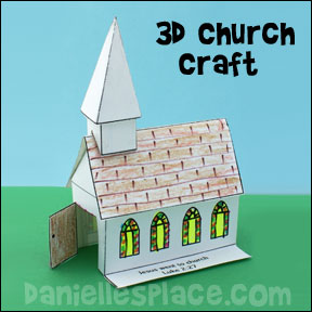 3D Paper Church Craft
