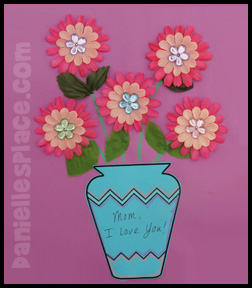 Mothers day vase with silk flowers paper craft printable craft mothers day vase with silk flowers paper craft mightylinksfo