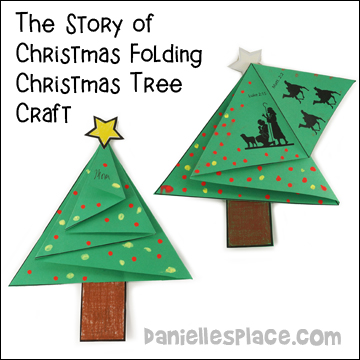 the story of christmas folding christmas tree craft