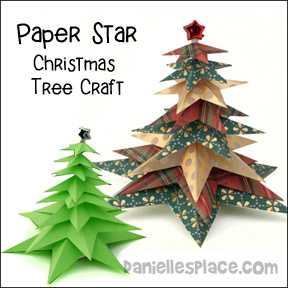 Star Christmas Tree Craft