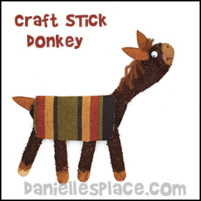 Craft Stick Donkey Craft