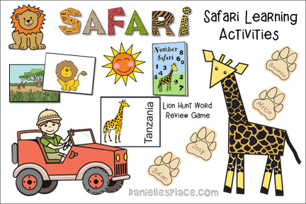 African Safari Learning Activities