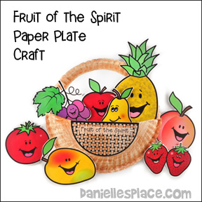 Fruit of the Spirit Paper Plate Basket Craft