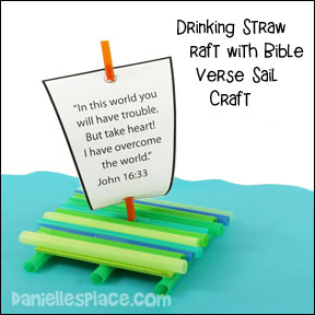 Drinking Straw Raft Sail Pattern