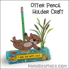 Otter Pencil Holder Craft