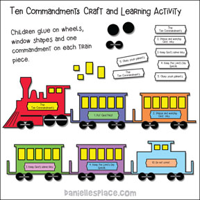 Ten Commandments Train Craft