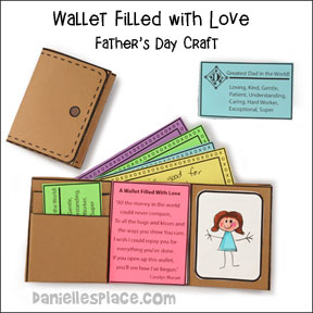 Wallet Filled With Love Father's Day Craft