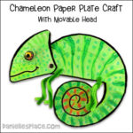 Chameleon Paper Plate Craft with Movable Head
