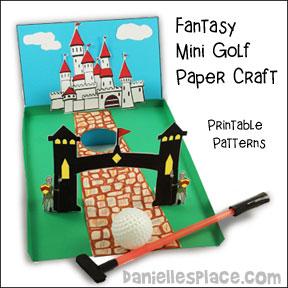Paper Mini Golf Course - Fantasy Theme