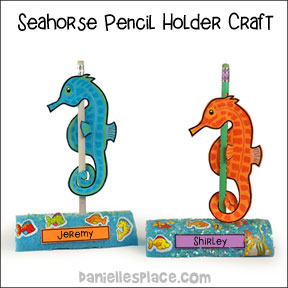Seahorse Pencil Holder and Place Holder