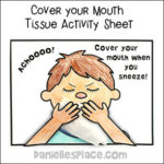 Cover Your Mouth Tissue Activity Sheet