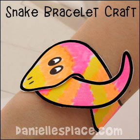 Snake Bracelet Craft Pattern