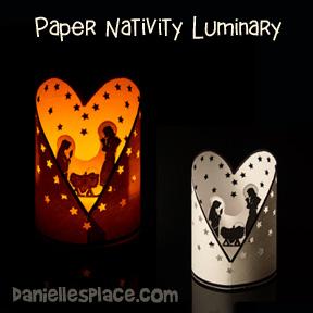 Heart Nativity Luminary
