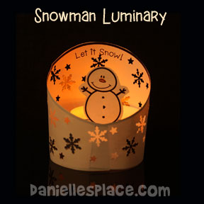 Snowman - Snowflake Luminary Craft