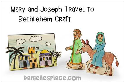 Mary and Joseph Travel To Bethlehem Craft