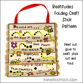 Beatitudes Folding Craft Stick Pattern