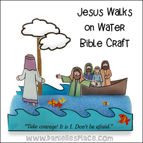 Jesus Walks on Water Noodle Craft