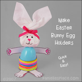 Bunny Easter Egg Holder Craft